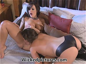 Allie Haze takes a turn in supremacy with Lisa Ann