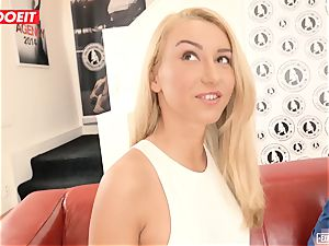 Katrin Tequila drilled hardcore on her first casting