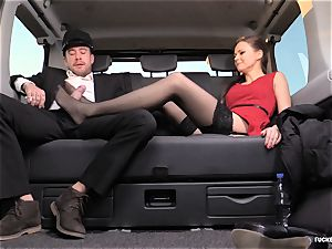 plowed IN TRAFFIC - british Tina Kay penetrated in the car