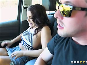 Keisha Grey getting poked via the car