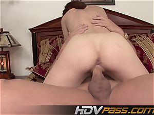 HDVPass Riley bashful gets plowed from bashful to super-naughty as hell