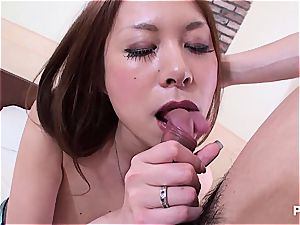 Jap honey with ginormous funbags seduced