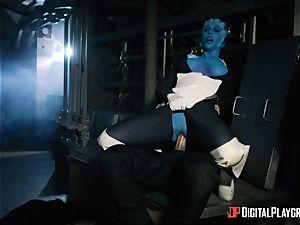 Space porno parody with hot alien Rachel Starr