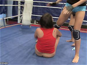 Emma butt and Larissa Dee girl steaming fight