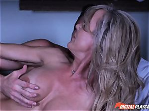 mummy Brandi love secretly deep-throating shaft