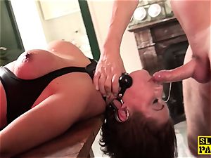 redhead brit slave butt-banged and corded
