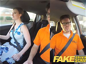 fake Driving school Nerdy redhead teenager student