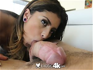 EXOTIC4K shackled up dripping lubricant nail with Latina