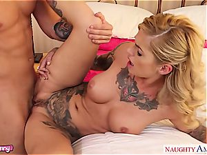 insatiable Kleio Valentien in undergarments toying with rock hard spear