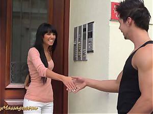 greasy nuru massage with Gina Devine