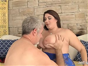 gigantic and spectacular plus-size Angel DeLuca hard-core hump