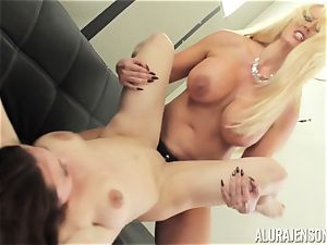 Alura Jenson puss packed with belt dick heavy bulky gal Brandi May
