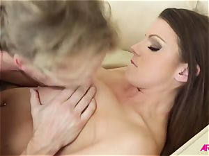 huge-chested damsel Brooklyn chase loves firm pummeled and spunk on her gigantic titties