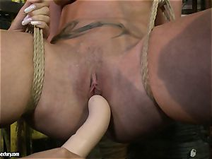 Kathia Nobili and Mandy Bright faux-cock smashing rock-hard