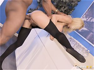 Alexis Fawx plowed by ample big black cock