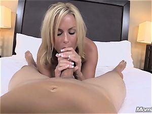 sizzling blonde milf internal ejaculation delight