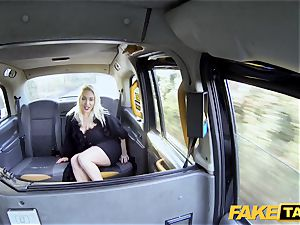 fake taxi light-haired cougar Victoria Summers porked in a cab