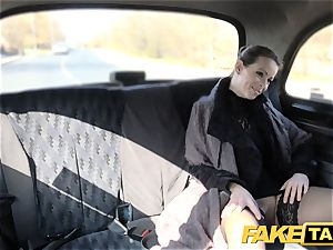 faux taxi Czech doll covets a hard shaft