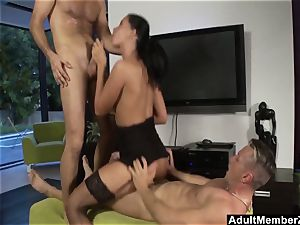 Larissa Dees threesome desire smash