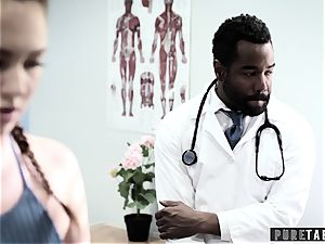 Maddy O'Reilly Exploited into big black cock assfuck at Doctors check-up