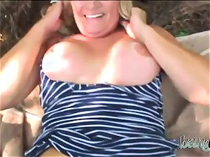 voluptuous granny with ginormous rump got pumped by a immense young salami