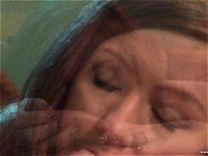 Maddy OReilly gets her gullet packed with yam-sized jizz