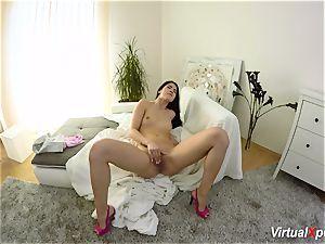 hairy huge-boobed Angel Wicky on webcam