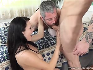 Megan Sages spouse strokes tiny schlong As She Gets penetrated