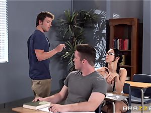big-titted lecturer Ava Addams is banged by her student