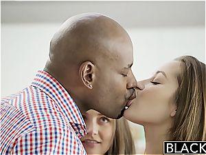 BLACKED gfs Dani Daniels and Allie Haze interracial three way