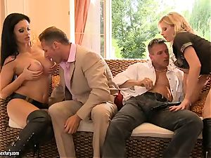 wondrous provocative Aletta Ocean is sliding her jaws on a enormous man's sausage