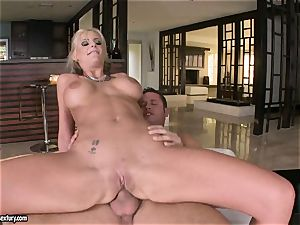 buttfuck lover Phoenix Marie bounces her rump on a hefty jizz-shotgun