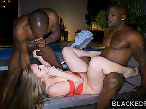 BLACKEDRAW massive breast white girl gets double teamed by BBCs